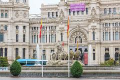 Fuente de Cibeles. Madrid (Artal B.) Tags: madrid cibeles fuente plaza calle nublado