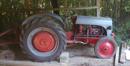 Ford Tractor in Daddy's Shed 1-8-1-15