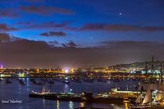 San Diego Bay Lights (jlm0506@att.net) Tags: california sunset reflection water night lights bay sandiego waterscape