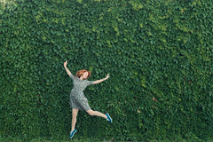 happiness (dmityr) Tags: park light red summer color green art girl beautiful beauty smile fashion wall female 35mm hair photography freedom ginger fly flying jumping model nikon dress natural young happiness naturallight lips fresh d750