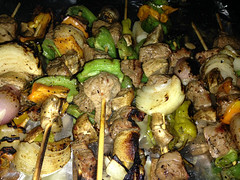 Cooked Kabobs (angry_issie) Tags: tea bbq toothpicks kabobs barbque fired