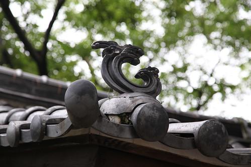 瓦屋根の模様