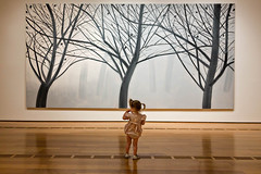 Toddler and art (ryotnlpm) Tags: atlanta baby art girl museum painting toddler child highmuseum moment thisisnow alexkatz