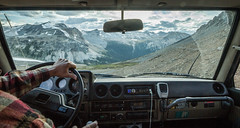 the road down (fantomdesigns) Tags: road camping camp truck 4x4 off trail alpine land cruiser chilcotin taseko