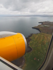 Icelandair's flight coming in for landing at Keflavik!
