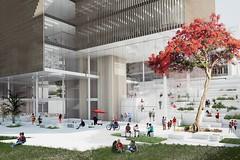 Проект кампуса Квинслендского Технологического Университета от Henning Larsens Tegnestue в Австралии
