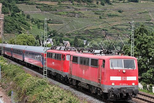 D DB 111 020-4+ BTE 110 491-8 Oberwesel 13-06-2015