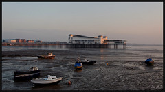 Grand Pier-1 (Rob McC) Tags: sunset sea boats coast pier mudflats westonsupermare grandpier explored