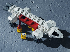 EAGLE 06 LEGO ((K_A) King_Arthur) Tags: show moon lune one tv noir lego eagle space 1999 modular scifi spaceship alpha moonbase ideas cosmos spacecraft transporter aigle