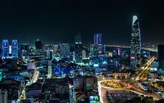 Saigon Nights - Vietnam, HCMC (Nomadic Vision Photography) Tags: skyline modern cityscape vietnam citylights bluehour viewpoint saigon hochiminhcity twighlight jonreid commercialzone tinareid nomadicvisioncom