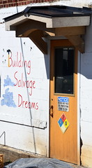 BuildingSalvageDreams (T's PL) Tags: door sign virginia nikon outdoor roanoke va roanokeva yabbadabbadoo blackdogsalvage d7000 tamron18270 nikond7000 tamron18270mmf3563diiivcpzd buildingsalvagedreams