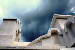 Greece... (dimitra_milaiou) Tags: old blue roof light sky white color bird texture church beautiful up lines weather saint wall architecture clouds island greek hope fly nikon europe paint day colours shadows village looking bell god 7100 outdoor d faith curves flight hellas free chapel greece pure orthodox andros cyclades dimitra d7100 δήμητρα milaiou μηλαίου