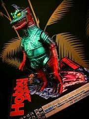 Showa 1974 Mechagodzilla Sofubi/Hobby Japan (Solitude is preferred) Tags: red black green magazine toys fire robot dinosaur metallic teal alien godzilla melt kaiju invaders showaera suitmation