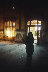 _Clairvoyance_ (Corentin Schieb) Tags: windows red wild woman lighthouse film youth analog 35mm decay curtain young free behind analogue attraction argentique inthedark clairvoyance corentin ballhaus neverstopexploring schieb keepexploring