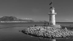 Leuchtturm_Alanya_Türkei (b.stanni) Tags: blackandwhite bw lighthouse water architecture turkey landscape wasser türkei architektur landschaft alanya leuchtturm mittelmeer