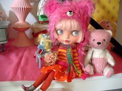 Various shades of pink......