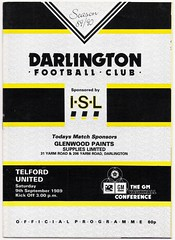 DARLINGTON v TELFORD UNITED 1989-90 [GMVC] (bullfield) Tags: darlington durham england telford wellington shropshire quakers