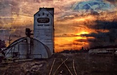 A sunset in Gilbert Plains (Starkrusher) Tags: sunset canada grunge farming manitoba agriculture cnrail gilbertplains