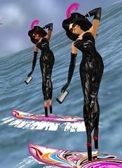 44 (SoakinJo) Tags: highheels wetlook wetclothes imvu wetdress extremeheels surfinginheels