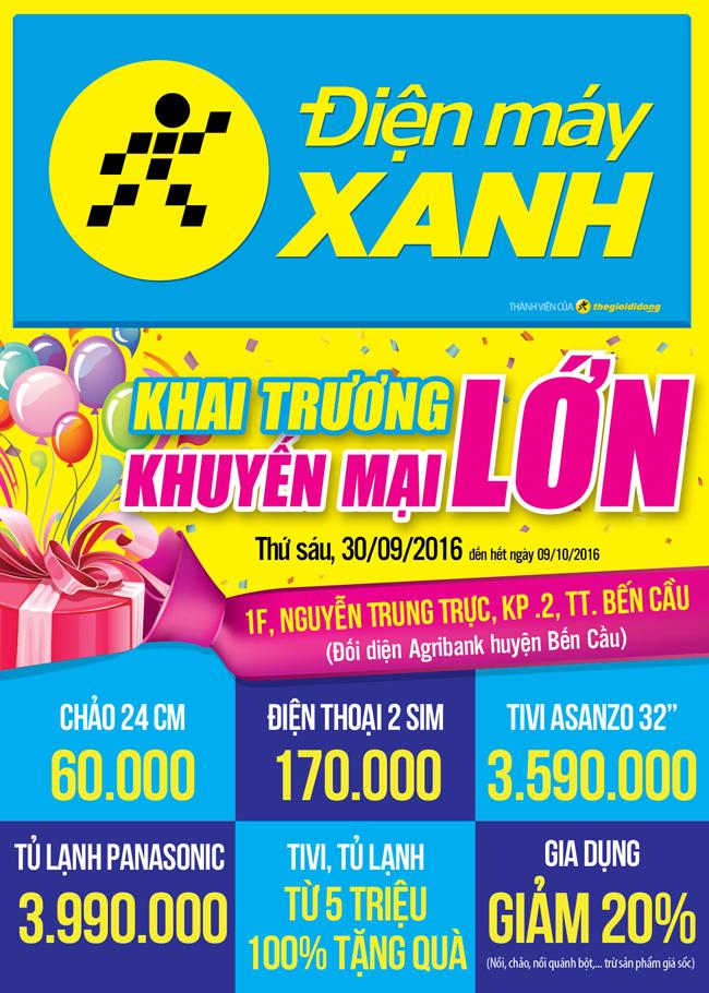 Khai trương siêu thị Điện máy XANH Bến Cầu, Tây Ninh