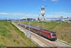 Railjet in pista! (Marco Stellini) Tags: railjet obb trenord italia lombardia malpensa t1 stazione 1216 e190 taurus