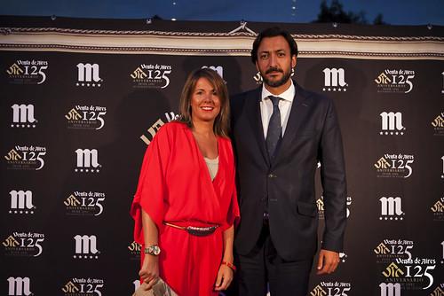 Olivia Jurado y Joaquín Sánchez Garrido. Restaurante Venta de Aires de Toledo. Fiesta 125 aniversario.