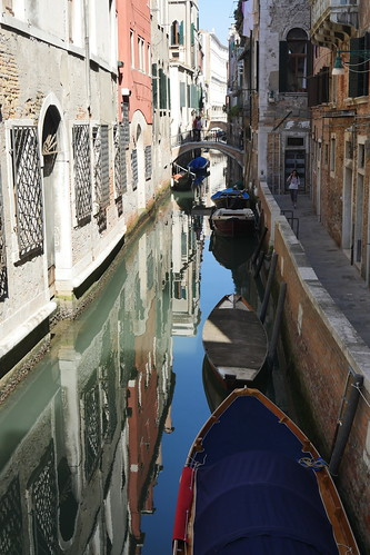 Reflections in a Venice canal