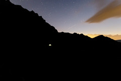 spot the tent (chrisimmler) Tags: mountains tent hiking night sunset sky blue sleep outdoors austria vorarlberg bregenzerwald canon landscape photography salewa light adventure