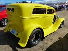 1931 Ford Tudor sedan (bballchico) Tags: 1931 ford tudor sedan hotrod pinstripe oldyeller brucequinn arlingtoncarshow 30s