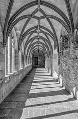 Kreuzgang II (vb-bildermacher) Tags: bw xanten dom niederrhein nrw kirche victordom kreuzgang entspannung ruhe innenhof schwarz weiss gedenksttte gotisch hochkreuz