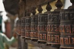 Monkey Temple Kathmandu (Thicks Aside) Tags: monkeytemple kathmandu prayerwheel nepal