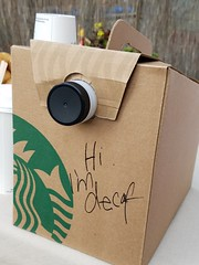 Day 276: Shove It, Decaf (quinn.anya) Tags: starbucks coffee decaf hi greeting anthropomorphic day276 525600minutes