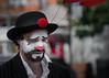 Sad clown (Gunnar Søreng) Tags: wwpw2016 clown sadness streetphotography portrait facepainting costume sad mood beard bowlerhat hat