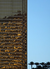 Gold glimmer on a glass building in Las Vegas (albatz) Tags: gold glimmer glass building lasvegas reflection