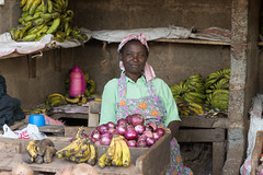 Selling bananas in Isiolo (JohnMawer) Tags: africa shopkeeper kenya stall isiolo northernkenya market isiolocounty ke