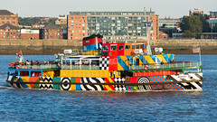 'Snowdrop'. (PRA Images) Tags: snowdrop merseyferry ferry rivermersey dazzlepaint liverpool imo8633724 ships