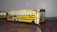 Model X139 - Trans Conglomerate Bus #13 (Etienne Luu) Tags: paper model school bus cardstock