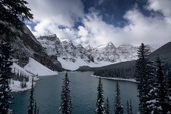 Blue View (gwendolyn.allsop) Tags: moraine lake banff national park blue mountains water clouds canada d5200