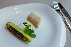 Orpine, Pike Perch & Cucumber (Premshree Pillai) Tags: helsinki finland helsinkiaug16 europe eu ask restaurantask tastingmenu dinner dinnerforone food summer summer2016