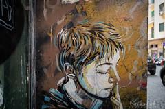 Streetart smoking girl in naples (Sascha Behr) Tags: streetart art graffiti kunst italien italy italia neapel napoli naples smoking girl rauchen mdchen graffito arte