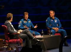 Astronauts Tim Peake and Tim Kopra (surreyblonde) Tags: astronauts spaceman iss spacestation space timpeake timkopra spaceshuttle conversation london uk canon g15 surreyblonde royalalberthall
