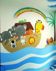 sgngng (BENET - BNT) Tags: bnt decorao graffiti arca de no spray interior art arte benet pintura infantil quarto