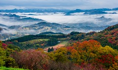 Autumn valley in the clouds (Changer4Ever) Tags: nikon d7200 nikkor mountains valley season autumn fall leaf leaves maple tree trees cloud clouds sky color colorful life nature travel scenic scene landscape hills