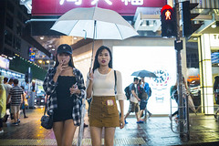 Rainy night () Tags: leica leicam240p leicam leicamp konica konicahexanonuc35f2 35mm f20 f2 hexanon hongkong shatin street streetphotography people candid city stranger mp m240p m240 publicspace walking offfinder road travelling trip travel    asia girls girl woman  wideopen mongkok kowloon