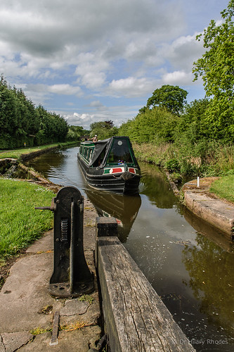 Looking back at the long pound at Bosley Lock 6