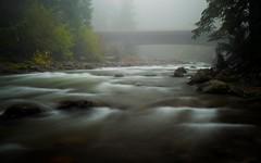 East Fork Hood River (LukeDetwiler) Tags: river bridge fog longexposure eastforkhoodriver hoodriver fall dark october hoodrivercounty oregon mthood mthoodnationalforest nikon nikond3100 d3100