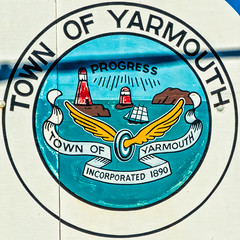 Town of Yarmouth (Timothy Valentine) Tags: 0816 squaredcircle sign vacation 2016 yarmouth novascotia canada ca
