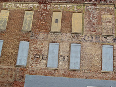 Genesta Hotel, Augusta, GA (Robby Virus) Tags: augusta georgia genesta hotel ghost sign signage faded ad advertisement brick wall abandoned building eighth street