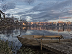 Sunday by the river. (la1cna) Tags: river walk winter nature boat reflection color lake