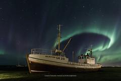 Hólmsteinn, The spirit of my father (Kjartan Guðmundur) Tags: iceland ísland boat auroraborealis northernlights norðurljós zorzapolarna polarlict stars sky nordlys oak canoneos5dmarkiv tokinaatx1628mmf28profx kjartanguðmundur arctic photoguide ngc